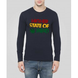 Higher State Of Mind Full Sleeve Weed T-Shirt